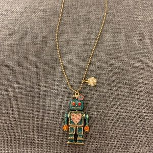 Betsey Johnson Robot Necklace